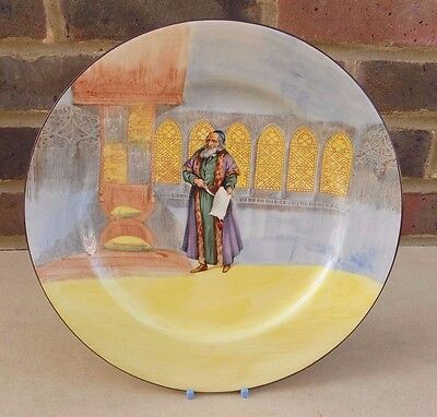 ROYAL DOULTON Shakespeare Series Ware Shylock Cabinet Plate