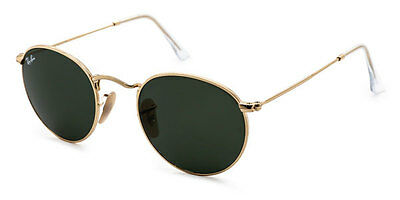 BRAND NEW Ray-Ban Sunglasses RB 3447 001 50mm Green Lens Gold Frame AUTHENTIC