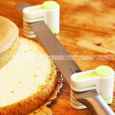 2Pcs 5 Layers DIY Cake Bread Cutter Leveler Slicer Cutting Fixator Kitchen Tools