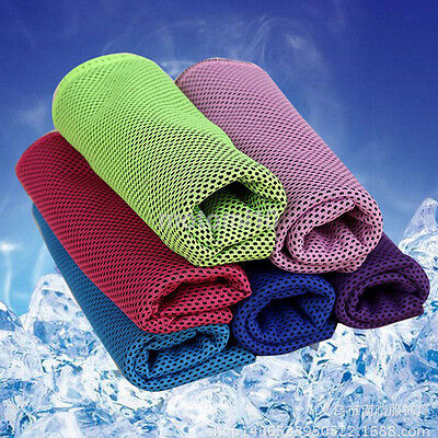 Ice Cold Running Work Out Gym Chilly Pad Instant Cooling Towel Outdoor UK