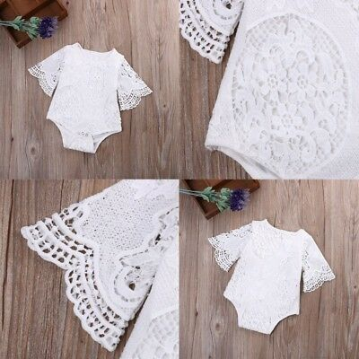 Kids Toddler Baby Girl 0-3Y Outfits Sunsuit Romper Lace Floral Playsuit Jumpsuit