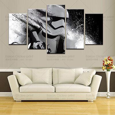 5 Pieces Printed Star Wars Canvas Painting For Living Room Wall Art Decorative