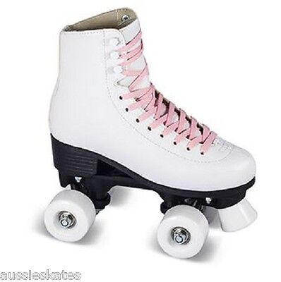 Classic Kids Girls High White Retro Boot Quad Roller Skates Size EU36