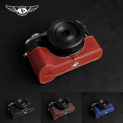Handmade Genuine Real Leather Half Camera Case Bag Cover for Canon EOS M6