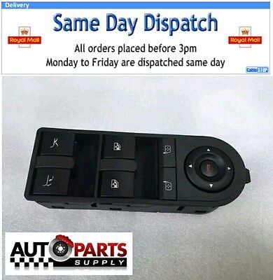 vauxhall tigra convertible drivers side electric window switch new roof boot