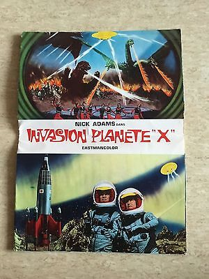 Plaquette Synopsis : Invasion Planète X (1965) Adams, Takarada FRENCH PRESS RARE