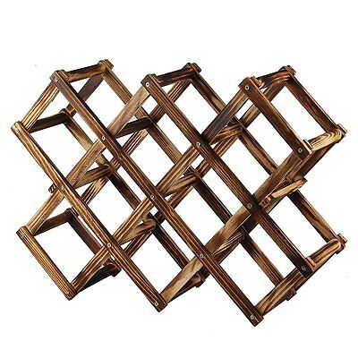 Creative Folding Wine Bottle Wooden Wine Rack R9T9