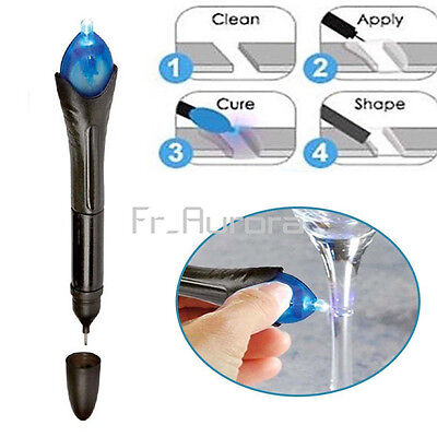 DIY 5 Second UV Light Liquid Glass Welding Compound Glue Quick Fix Repair Tools