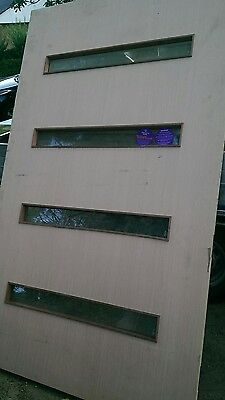 solid entrance front exterior door 2040 x 1200  x 40  clear  glass
