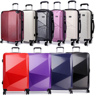 KONO Large Suitcase Hardshell Luggage 4 Wheel Spinner Trolley Travel Case 28''