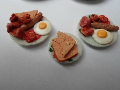 Dolls house food, Sylvanian Families  Breakfast for two   1/12th scale