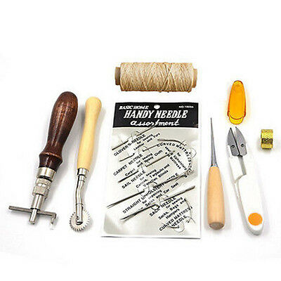 7x Leder Werkzeug Leather Stitching Hand Sewing Stitching Kit Set