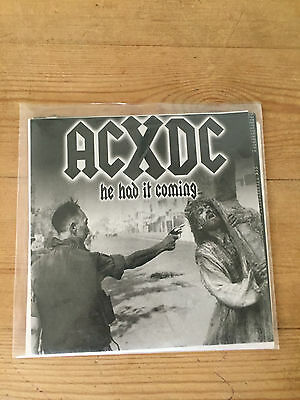 "ACxDC Antichrist Demoncore - He Had it Coming 7"" Vinyl Record Grindcore Metal PV"
