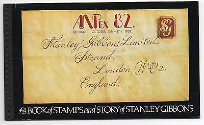 1982 Stanley Gibbons ANPex 82 overprint Prestige Booklet Very Fine and Rare!