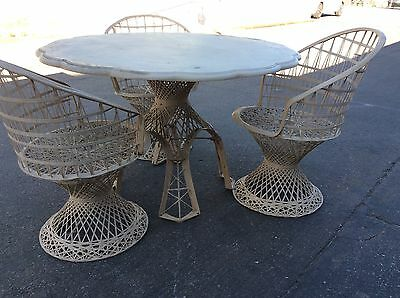 Vintage Patio Furniture Outdoor Set (3) Chairs & Table Composite Pick Up Only