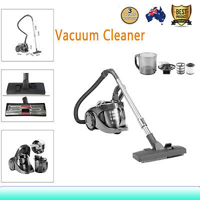 2800W Bagless Cyclone Cyclonic Vacuum Cleaner HEPA Filtration System 360° Swivel