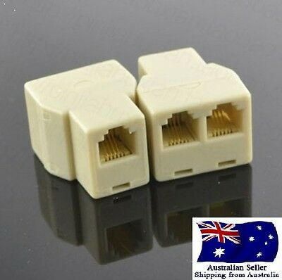 Top quality Ethernet RJ45 CAT5E 8P8C Straight Extender LAN  Splitter