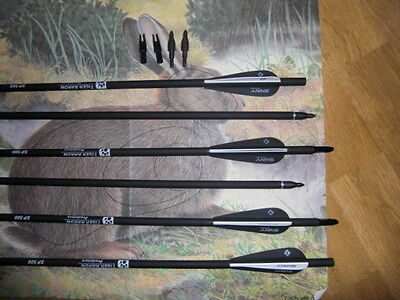 "6 x 30/31"" Superfast carbon arrows archery 500 spine field tip SALE PRICE!!!!"