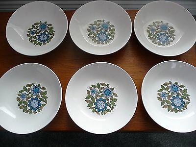 """Retro,1960's  J and G Meakin  """"Topic"""" dessert bowls serving bowl -  Alan Rogers"""