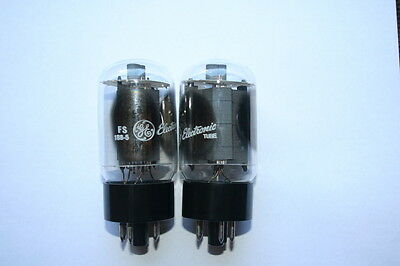 General Electric GE 6L6GC valves / tubes pair OS old stock