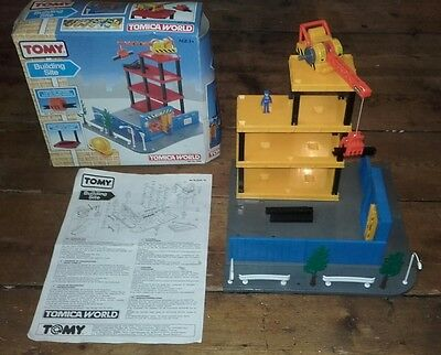 "Rare Collectable Vintage / Retro Tomy Tomica World ""Building Site"" Set No. 9002"