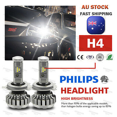 PHILIPS 252W 25200LM H4 LED Headlight Kit Bulbs Hi/Low Beam Replac Xenon Canbus