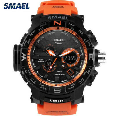 SMAEL Fashion Men Watch LED Dual Display Digital Electronic Sport Wrist Watches