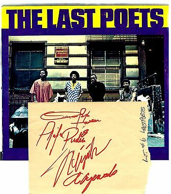 The Last Poets Autograph-Signed Set-Early Influence Of Hip-Hop Music