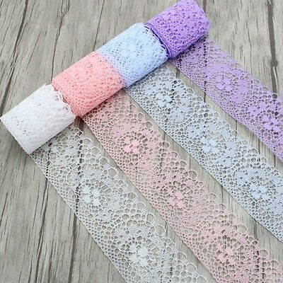 10 Yards Embroidered Net Lace Trim Scalloped Edge Ribbon Sewing Wedding Craft