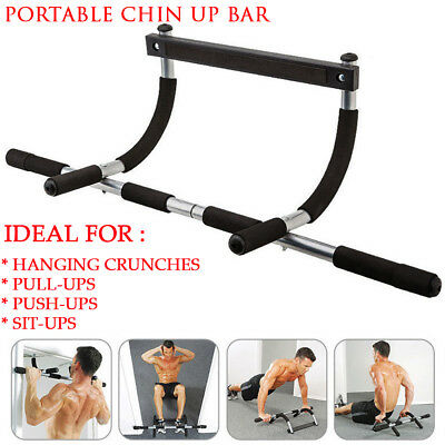 New Portable Chin Up Bar Home Doorway Wall Mounted Pull Up Dip Abs Exercise