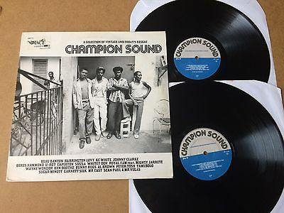 Champion Sound  Lp A Selection Of Vintage And Today's Reggae 2-Lp Compilation Nm