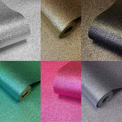 Muriva™ Sparkle Glamour Real Glitter Bug Wallpaper Silver Gold Pink Black Teal