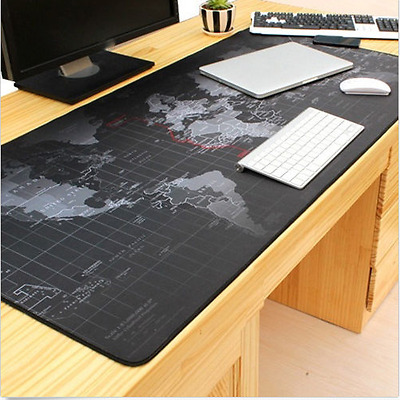 World Map Anti-Slip Large Notebook Computer Speed Game Mouse Pad Desk Gaming Mat
