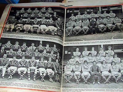 RLW Rugby league week 1974 No.9 - City and Country Team Posters