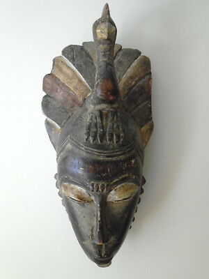 Large Vintage/antique African Tribal Art Ethnic Carved Wood Fertility Face Mask
