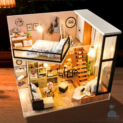 DIY Handcraft Miniature Project Kit My Elegant Apartment Wooden Dolls House 2019