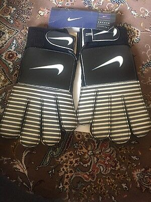 New Nike Football Soccer Goalkeepers Gloves Size Adult 10 ( XL )