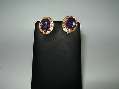 9ct Yellow Gold oval earrings (non pierced)
