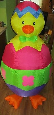 Airblown Inflatable Easter Chick Egg 4 FT Indoor Gemmy