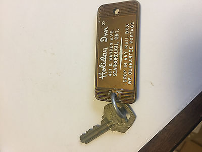 Vintage Holiday Inn Hotel Room Key & Fob Scarborough, Ont.  Room 1209