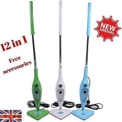 12in1 Steam Mop 1300W Super Heated Multi Upright Handheld Cleaner Sterilizer