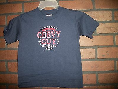 Kids Children Shirt CHEVY GUY ALL MY LIFE Size TODDLER 4T Color BLUE (T618)
