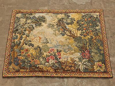Vintage French Beautiful Verdure Scene Tapestry 99X72cm (A1134)