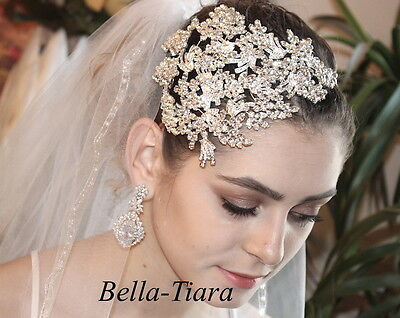 STUNNING crystal vine wedding headpiece, wedding headband, bridal crown,