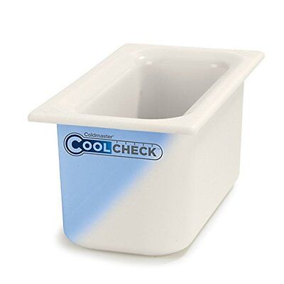 "Carlisle CM1102C1402 Coldmaster CoolCheck 6"" Deep Third-Size Insulated Food Pan,"
