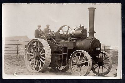 Traction engine ( East Yorkshire) ine rare Old Postcard Owner H Bailey AP85