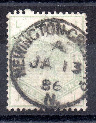 GB QV 1883 1/- Green SG196 fine used M45