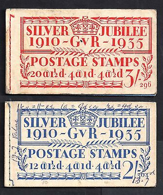 Gb Kgv 1935 Silver Jubilee Booklets 2S And 3S No Stamps Ap116