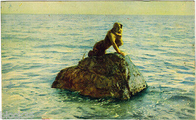 1920's Russian Vintage card Crimea Miskhor MERMAID'S SCULPTURE