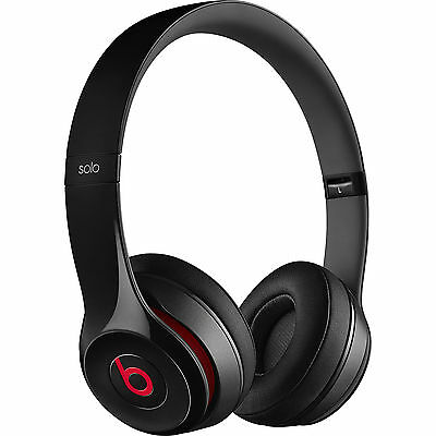 Beats by Dr. Dre Solo2 Wired On-Ear Headphones (Black) Brand New
